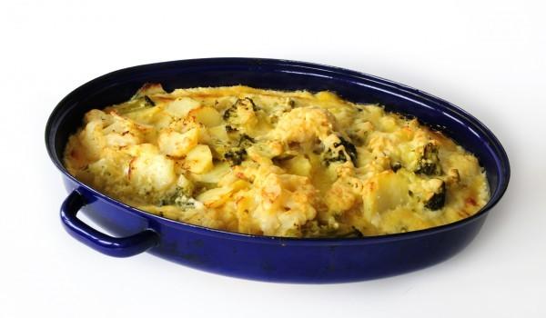 Огретен с броколи и картофи