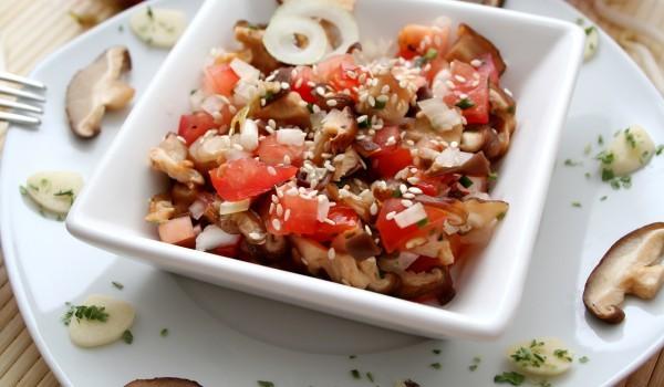 Гъбена салата с манатарки