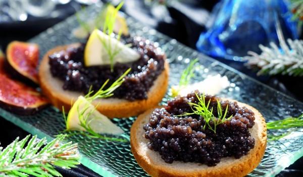 Хайвер с орехи и маслини