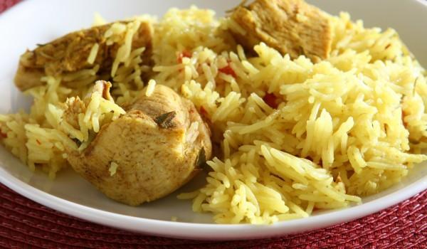 Ориз със свинско на фурна