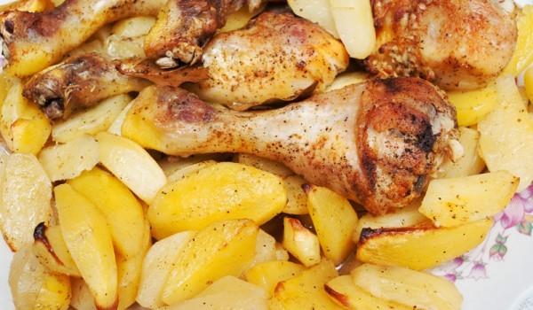 Пиле с картофи и лимонов сок